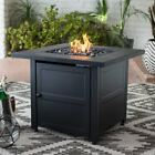 Endless Summer Black Tile Mantle Liquid Propane Outdoor Fire Table