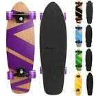 "27"" Mini Skateboard Cruiser Style Complete Wooden Printed Board High Quality@ image"