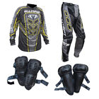 Adult+MX+Wulf+Wulfsport+2019+AXIUM+Pant+Shirt+Knee+%26+Elbow+Pads+Yellow+%23A21