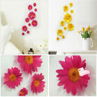 10x Removable 3d Daisy Flower Home Decor Wall Sticker Bedroom Living Room Decal
