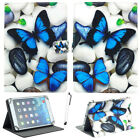 """For 7"""" -10.1"""" Tablets Blue Butterfly Universal Stand PU Leather Case Cover Gift"""