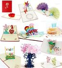 Внешний вид - 3D Pop Up Greeting Cards Happy Birthday Mothers Day Anniversary Gift Postcards