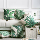 Tropical Pillow Cover Cushion Case Green Leaf of Tropical Palm Telopea monstera