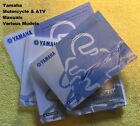 Yamaha Motorcycle & ATV Owners Manuals 2000-2016 Various models LQQK!