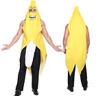 Banana Costume Fancy Dress Outfit Men Women Unisex Funny Stag Yellow Fruit Party