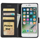 Case Cover For Apple iphone 4 5 6 7 8  Magnetic Flip Leather Wallet Card Holder