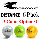 6 Pack Chromax High Visibility Colored Golf Balls – Distance – CHOOSE COLOR!