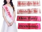 Hen Party Sashes Girls Night Out Wedding Bride Event Accessories Ribbon Gift
