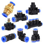 Pneumatic Push-In Fitting Air Valve Water Hose Pipe Connector Speed Joiner ark