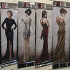 Figurative/ladies red/black/gold dresses with crystals,liquid art&mirror frames