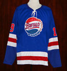 CODY HODGSON BUFFALO BISONS RETRO HOCKEY JERSEY BLUE NEW SEWN ANY SIZE