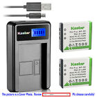 Kastar Battery LCD Charger for Fujifilm NP-50 NP-50A & Fuji FinePix F60FD Camera