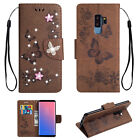 Bling Leather Flip Card Slots Wallet Case Cover for Samsung Galaxy S9
