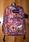 Girls HORSE Backpack~JanSport~Many HORSES~Equine~School~Bright Colors~GR 8 GIFT