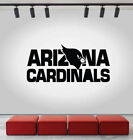 Arizona Cardinals Logo Wall Decal NFL Sport Sticker Decor Black Vinyl CG567 $12.0 USD on eBay