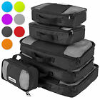 'Savisto Packing Cubes 6 Set Luggage Organiser Travel Compression Suitcase Bags