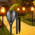 1-4 Pack 96 LED Solar Torch Light Flickering Lighting Dancing Flame Garden Lamps
