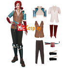 Wild Hunt Triss Merigold Cosplay Costume with belts set