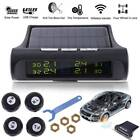 Wireless Car Auto TPMS Tire Pressure LCD Monitor System + 4 Sensors Solar Power