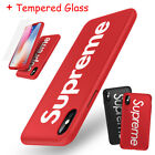 Supreme iPhone X 6s 7 8 Plus 360 Full Protection Hard Case Cover +Tempered Glass  iphone x cases 360 protection 2636109254544040 2