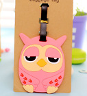 Owl Suitcase Luggage Tags Name Address ID Address Holder Silicone Bag Label