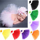 new born baby cute - Cute Baby Toddler Newborn Girl Tutu Skirt &Headband Photo Prop Costume Outfit US