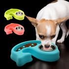 Dog Bowl Slow Feeder 2 in 1 Anti-choke Double Bowls Food Water Dish for Pets Cat