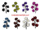 5 heads Supreme artificial Water lily long Stem home decoration outdoor garden