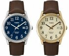 Timex Men's Easy Reader | Brown Leather Band Date Indiglo |