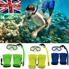 Junior Snorkel Mask & Fin Scuba Swimming Diving Snorkelling Holiday Kids Set UK