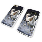 STUNNING WILD HORSES WHITE PHONE CASE COVER fits iPHONE SAMSUNG