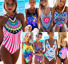 Womens Push Up Padded Monokini Bikini Set Swimsuit Beach Bathing Suit Swimwear
