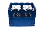 Plastic Crate for Glass Milk Bottles, Commercial Duty
