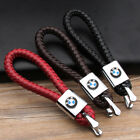Car Logo Key Chain Leathe Weave Straps Keyring For Mercedes BMW Honda Audi Ford