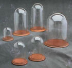 """New 4"""" x 7"""" Glass Display Dome and Base of Your Choice (GLD-47)"""