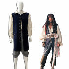 Hot!Pirates of the Caribbean Jack Sparrow Vestito cosplay costume GG.166