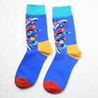 Men Colorful Socks Art Jacquard Printed Socks Male Long Cotton Socks Funny Socks