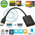 video adapter usb - USB 3.0 to HDMI HD 1080P Video Cable Adapter Converter for HDTV PC LCD Projector