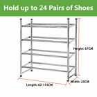 New 2/4 Tier Chrome Frame Stackable Extendable Shoe Rack Storage Organiser Stand