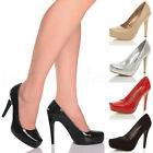 WOMENS LADIES SMART WORK EVENING BASIC HIGH HEEL PLATFORM COURT SHOES PUMPS SIZE