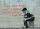 Banksy, Diogenes, Graffiti Art, Giclee Canvas Print, in various sizes