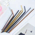 Stainless Steel Drinking Straws Straight Bent Reusable Filter With Brush Current