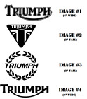 TRIUMPH Motorcycle Vinyl Decal Die Cut Sticker Many Colors €2.67 EUR on eBay