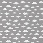 Clouds - Grey - Woven Cotton - 100% Cotton Fabric Sky Childrens Quilting