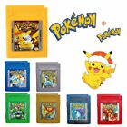 pokemon x blue - 7X Game Cards Carts Pokemon For Nintendo GBC Game Boy Color USA Version WD99