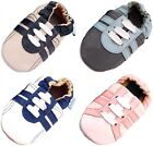 MINIFEET SOFT LEATHER BABY SHOES 0-6,6-12,12-18,18-24 Mths & 2-3 Yrs - TRAINERS