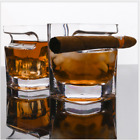 Handblown Whiskey Glass With Cigar Holder 10 Ounces/300ml Crystal Whiskey Glass