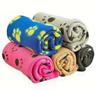 Puppy Blanket Pet Soft Bed Cushion Cover Dog Cat Warm Sleep Bed Mat Paw Print US
