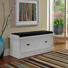 Home Styles Nantucket Distressed Upholstered Storage Bench