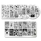 UR SUGAR Nail Art Stamping Plate Summer Theme Fruit Flamingo Nail Image Plates